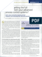 Are You Getting the Full Benefits From Your Advanced Process Control Systems (2005)