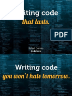 Writing Code That Lasts