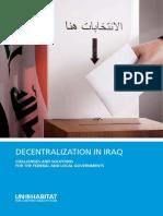Decentralization in Iraq