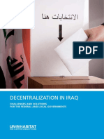 Decentralization in Iraq