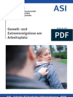 BGN Broschüre - Gewalt- und Extremereignisse am Arbeitsplatz