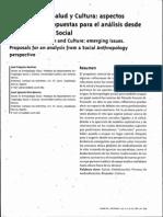 Antropologia Social Globalización, Salud y Cultura