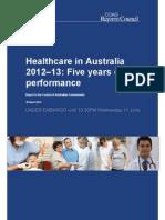 Healthcare in Australia 2012-13