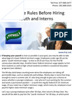 Know the Rules Before Hiring Youth and Interns