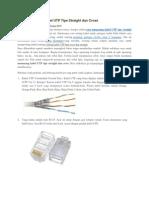 Cara Memasang Kabel UTP Tipe Straight Dan Cross
