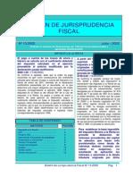 Boletin Jurisprudencia Del Tribunal Fiscal