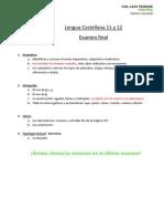 Contenidos Examen 11 y 12