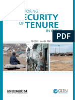 Monitoring Security of Tenure in Cities