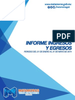 Informe Ingresos Egresos Mayo 2014