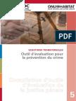 QUESTIONS TRANSVERSALES Outil d'Évaluation Pour La Prévention Du Crime