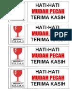 MUDAH PECAH