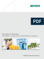 Focusing on Pharmacy The Analysis, Characterization and Identification of Substances