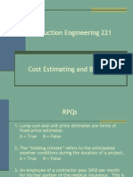 Con E 221 - P08 - Ch 5 Part 1-Cost Estimating and Bidding.ppt