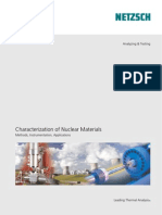 Characterization of Nuclear Materials Methods, Instrumentation, Applications