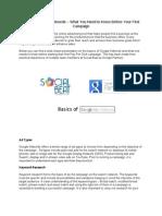 Basics of Google Adwords