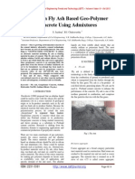 Study On Fly Ash Based Geo-Polymer Concrete Using Admixtures