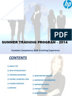 summer training presentataion