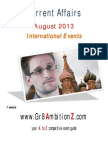 August Month Current Affairs International