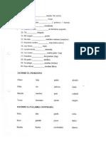 Determinantes Posesivos 2 y Sustantivos
