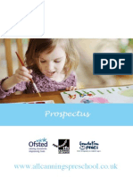 All Cannings Preschool Prospectus