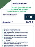 Predavanje 4-Dimenzionisanje Preseka Prema Teoriji Granicnih Stanja 1