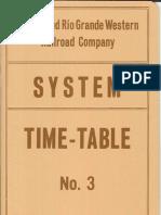 D&RGW Employee TT #3 Jan 1 1977