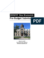 NB Budget Recommendations 2008