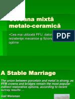 Coroana Mixtă Metalo-ceramică Curs 6