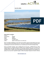 Activia Solar Case Study. 3 UK solar pv construction sites. Winter 2014
