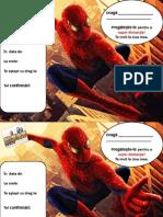 Invitatii Spider Man