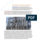 Evaporator PlantEvaporator Plants Manufacturers | evaporator manufacturers Manufacturers