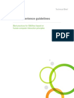 User Experience Guidlines for QlikView