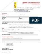 Demande Accréditation - CDLN 2014