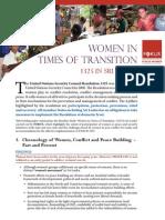 Women in times of transition. 1325 in Sri Lanka