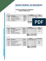 Grade de Contábeis UFMA