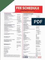 NLC Fee Schedule