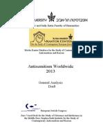 AntiSemintism Worldwide 2013