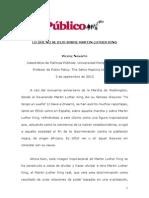 03 09 2013 Lo Que No Se Dijo Sobre Martin Luther King v0163 Vdef 020913 Edit
