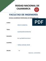 Clasif. de Impactos