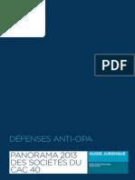 Panorama 2013 des défenses anti-OPA au sein des sociétés du CAC 40