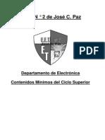 Contenidos Minimos de La Curricula de Tecnico en Electronica