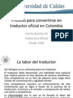 Ponencia Traductor Oficial en Colombia