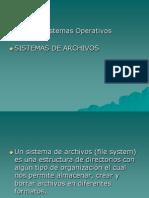 04.- Sistemas de Archivos Parte II