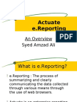 Actuate e reporting