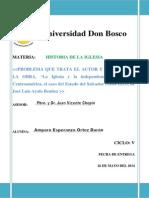 Trabajo Final de Historia de La Iglesia de Luis Benitez