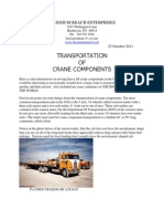 Transportation of Crane Components