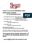 Time for Our Annual RideAbility Raffle! Raffle Tickets Available For