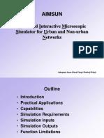 L4 AIMSUN Overview and Algorithms