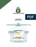 La Organizacion Como Proceso Administrativo y Sus Elementos