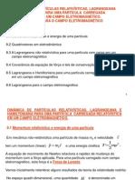 8. Dinâmica de Partículas Relativísticas